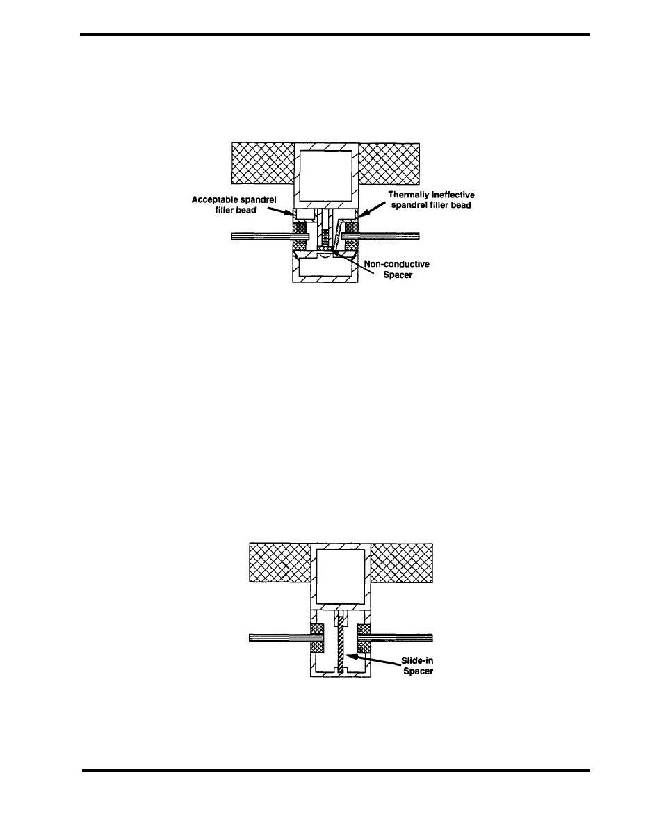Glass Mullion System : Figure screw on face mullion